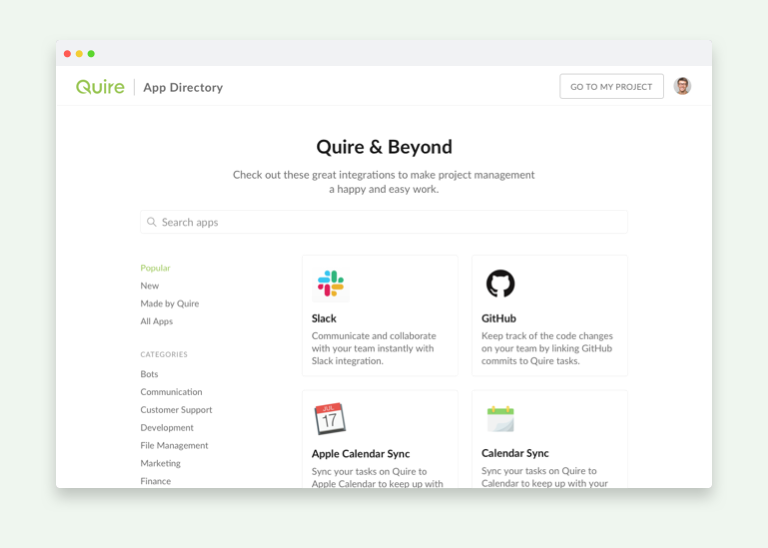 Quire App Directory
