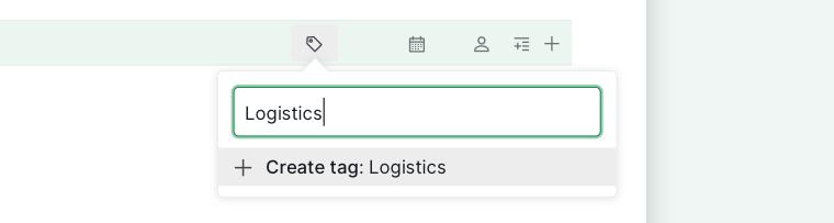 add new tags