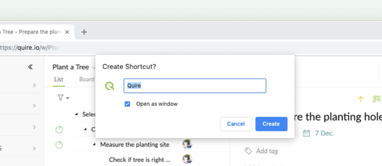 chrome name shortcut
