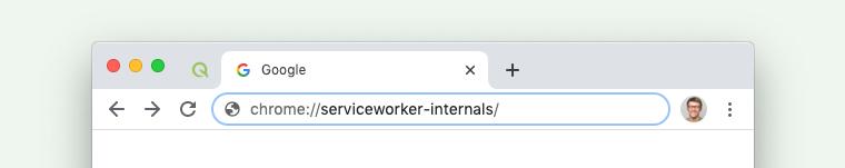 service worker URL