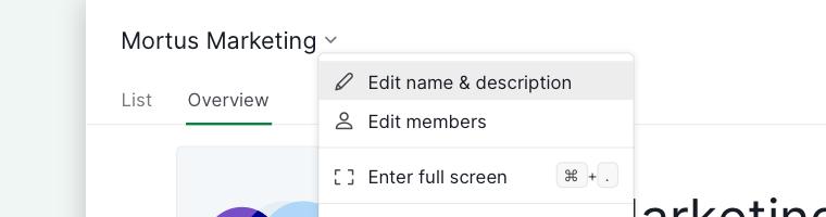 edit organization