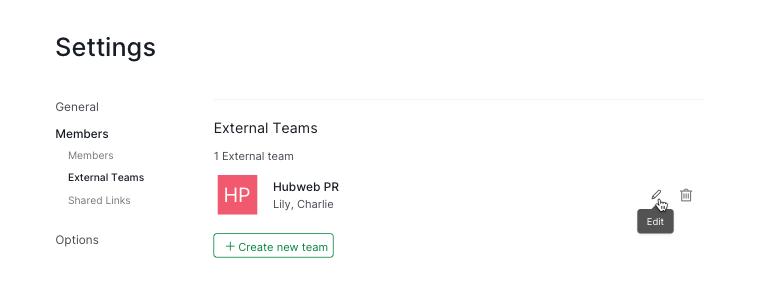 edit external team