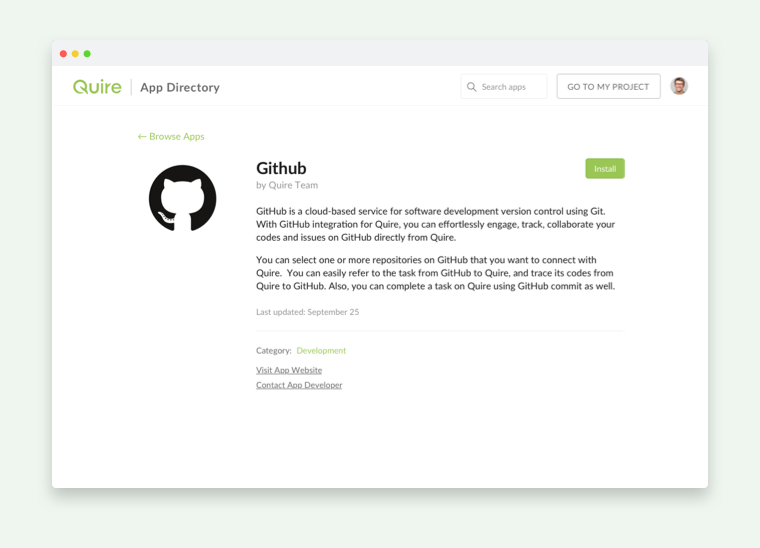 integrate with Github