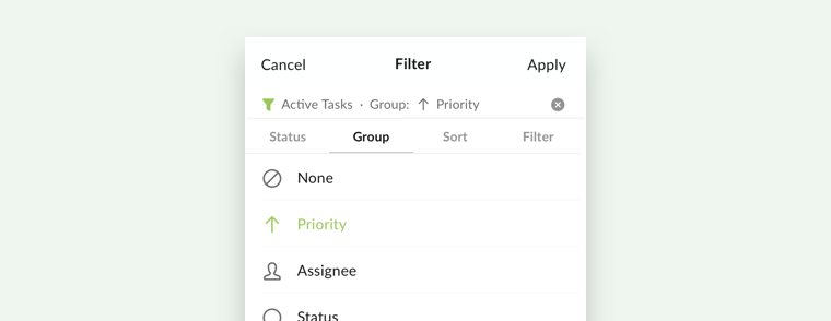 customize your own filters on mobile app