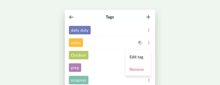 set tags to global on mobile app
