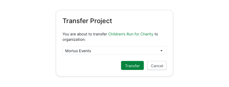 transfer project dialogue