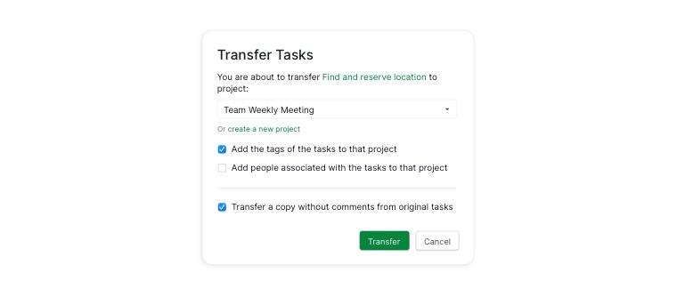 transfer task