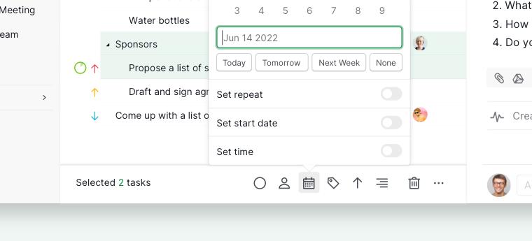 batch assign due dates