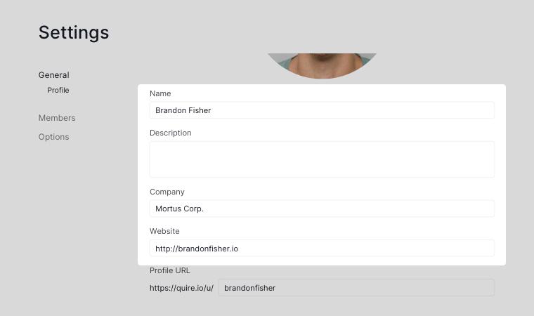 profile basic information