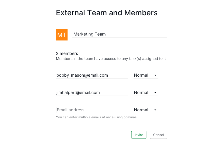 add external team members