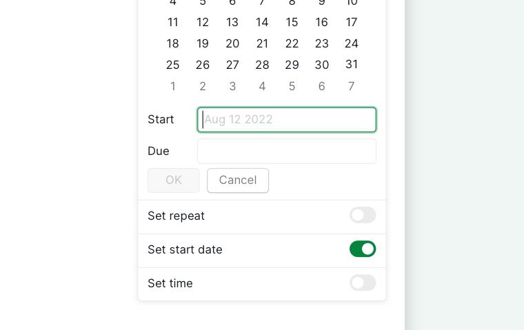 enter start date