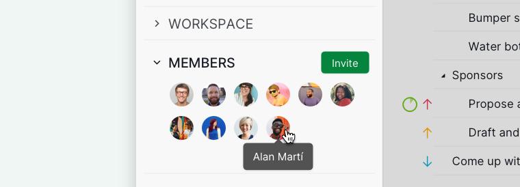 members at sidebar